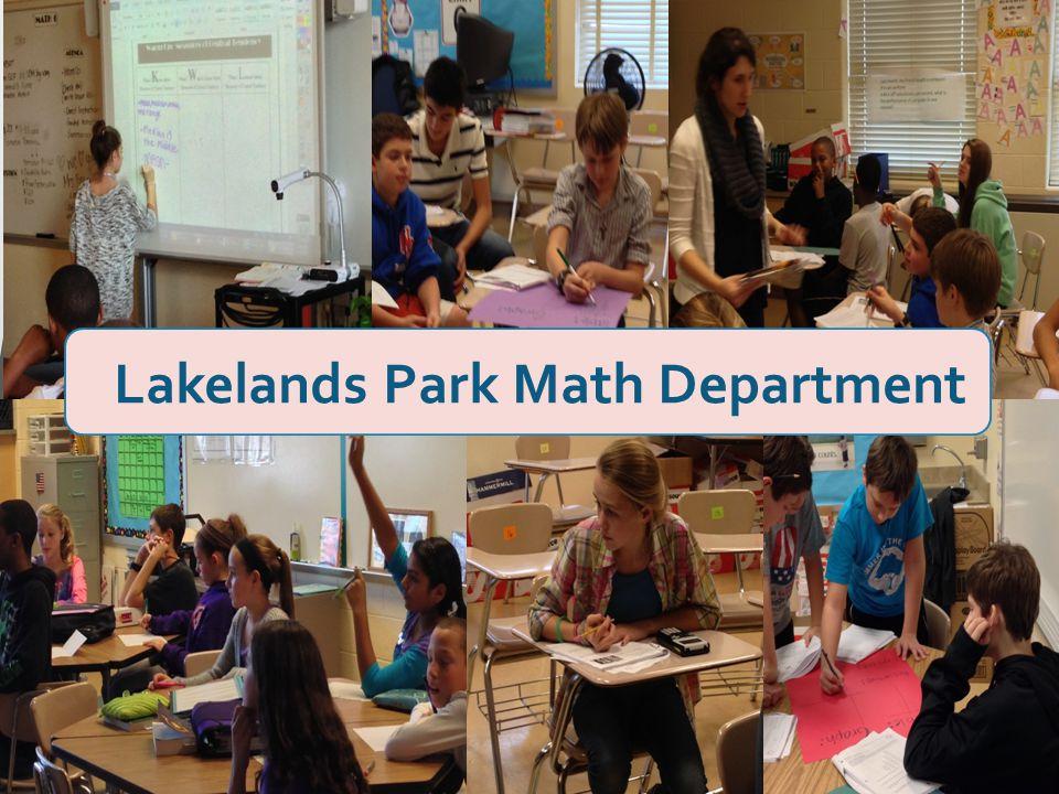 Lakelands Park Math Department