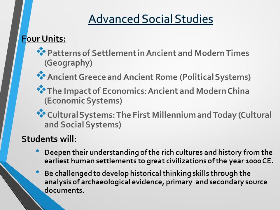 Advanced Social Studies