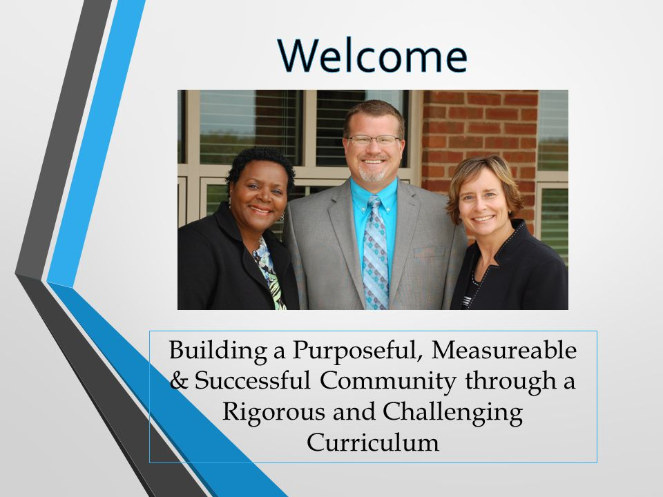 Welcome Building a Purposeful, Measureable & Successful Community through a Rigorous and Challenging Curriculum.
