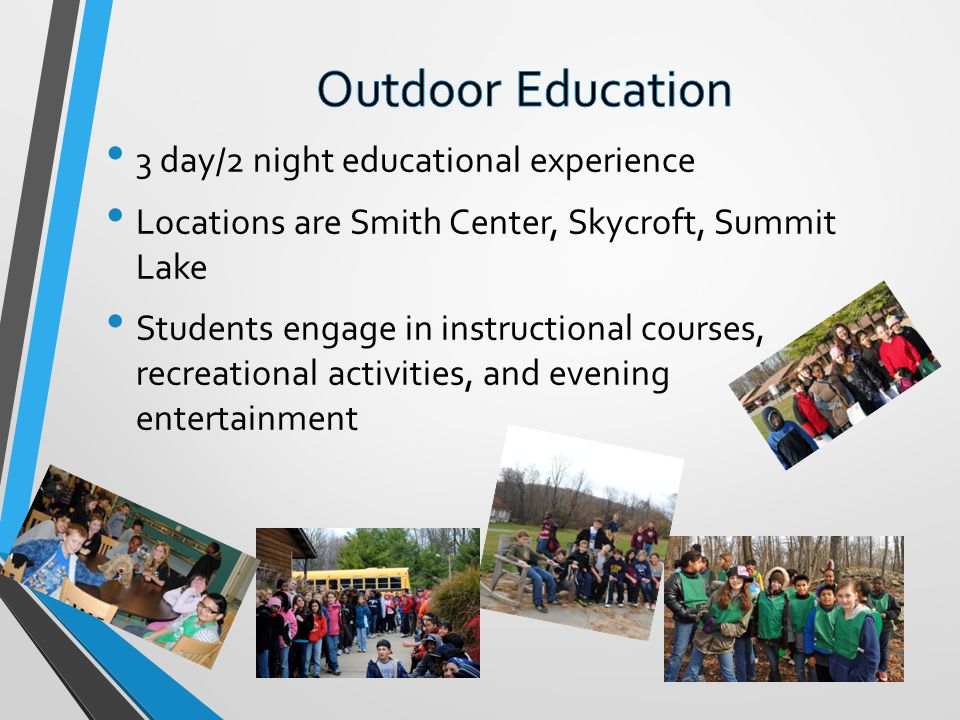 Outdoor Education 3 day/2 night educational experience