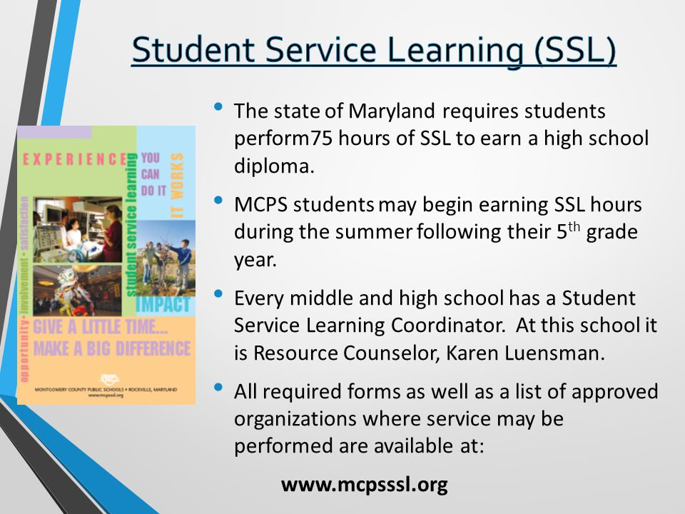 Student Service Learning (SSL)