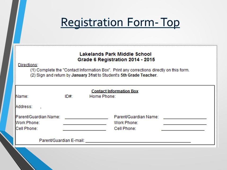 Registration Form- Top