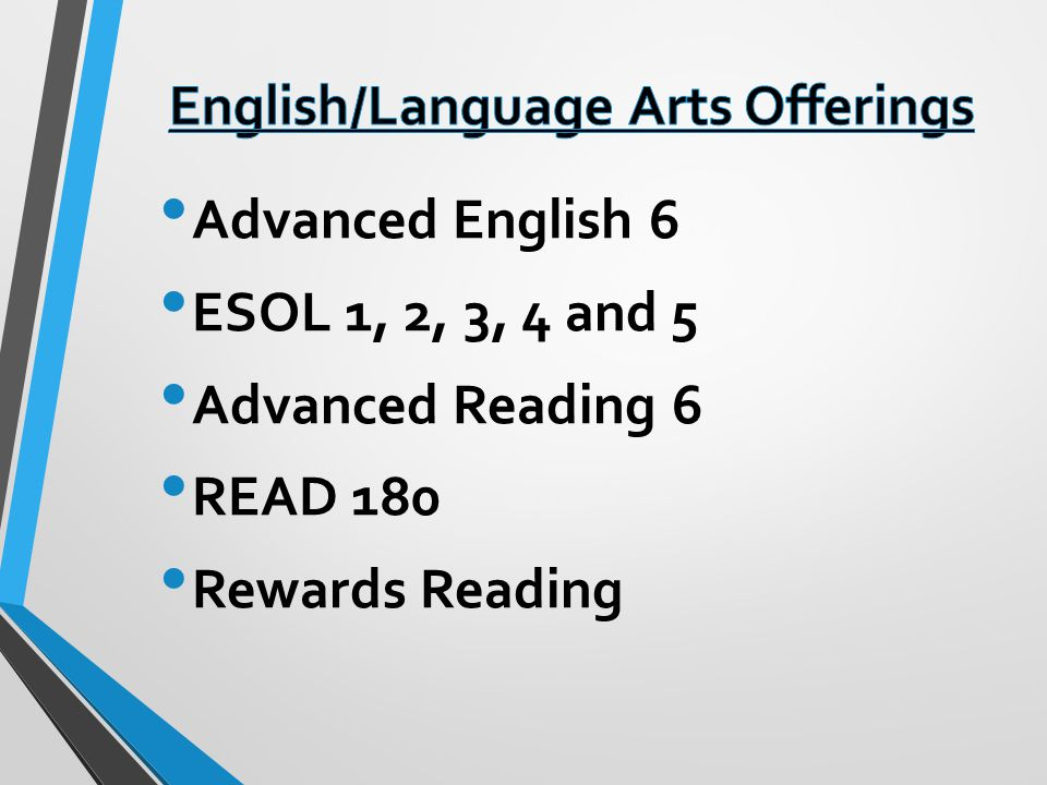 English/Language Arts Offerings