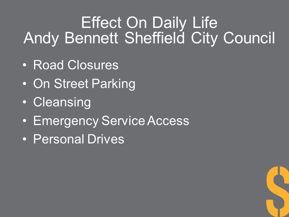 Andy Bennett Sheffield City Council