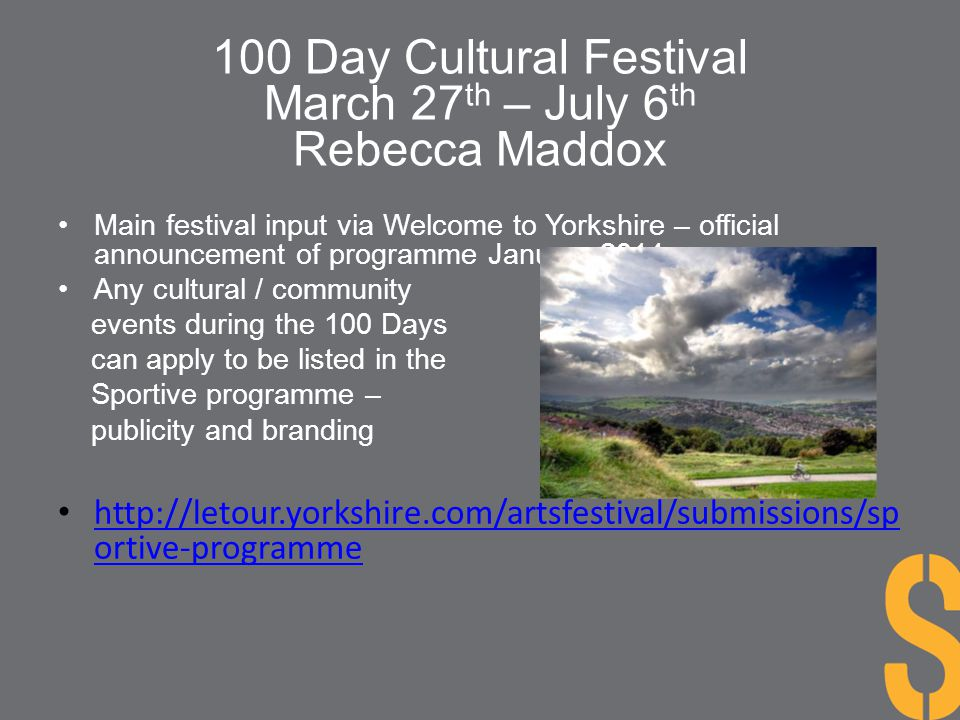 100 Day Cultural Festival March 27th – July 6th