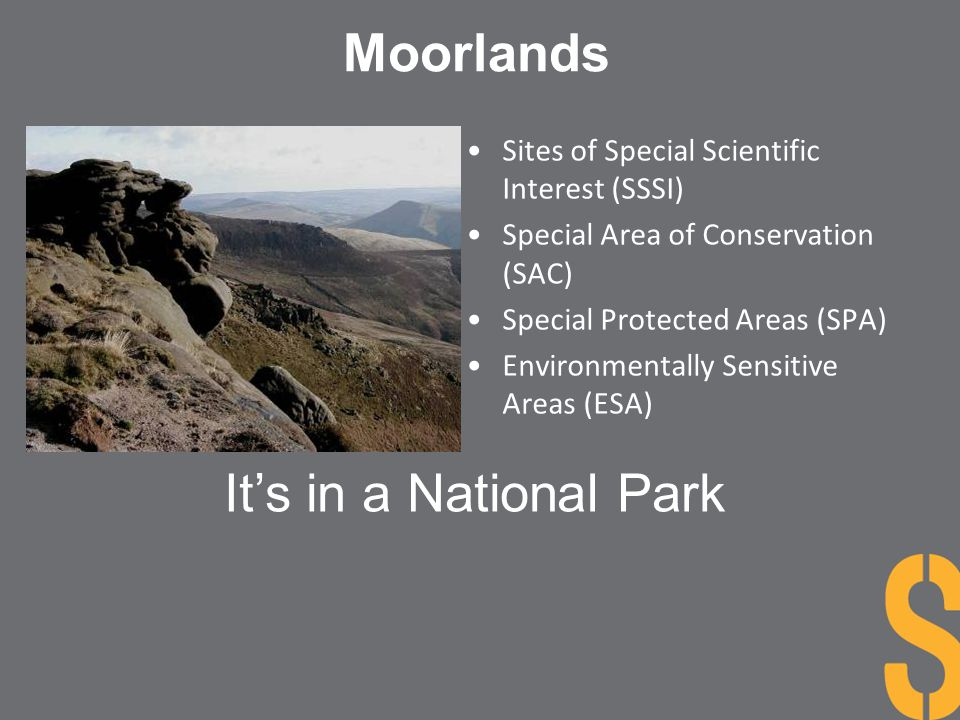 Moorlands It's in a National Park
