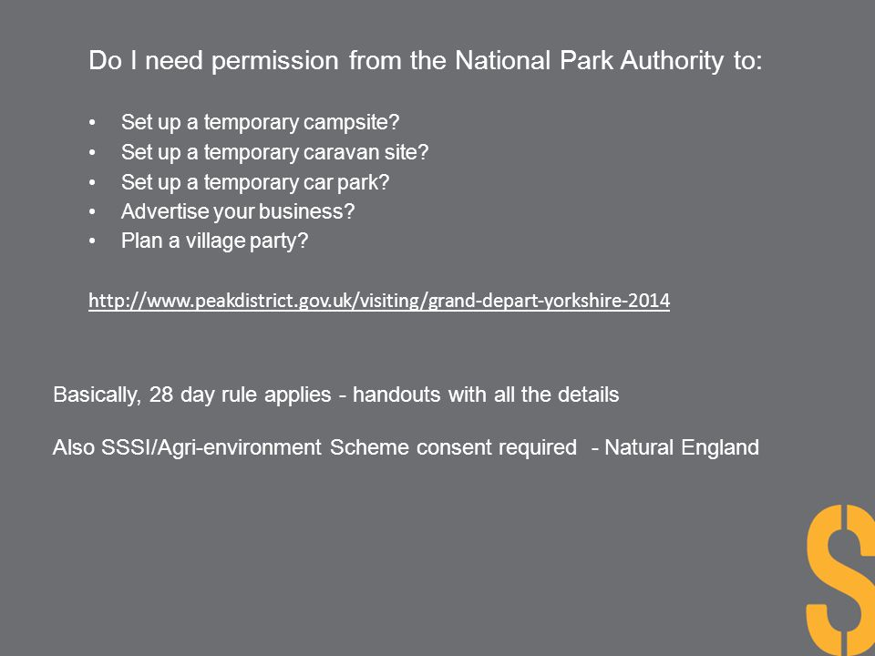 Do I need permission from the National Park Authority to: