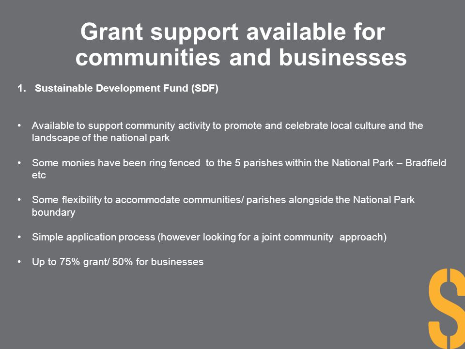 Grant support available for communities and businesses