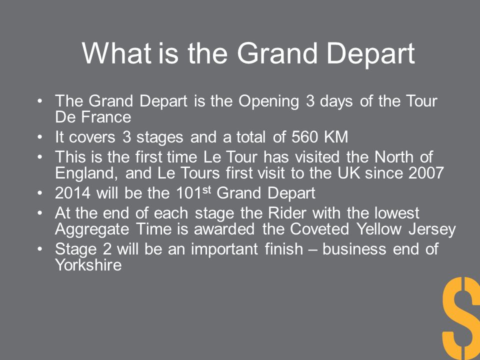 What is the Grand Depart