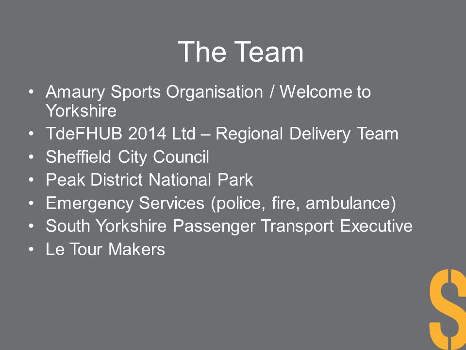The Team Amaury Sports Organisation / Welcome to Yorkshire