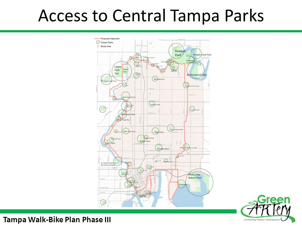 Access to Central Tampa Parks