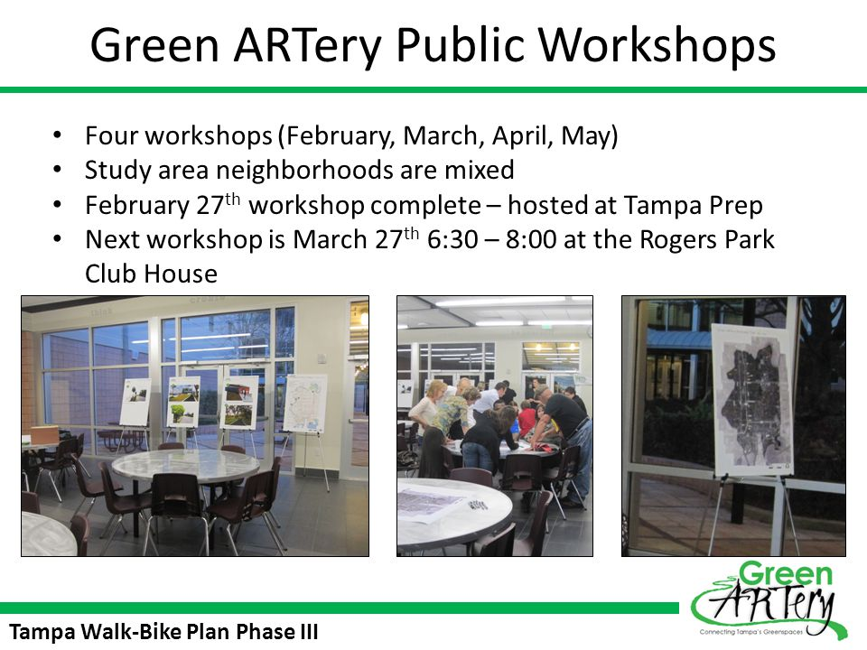 Green ARTery Public Workshops