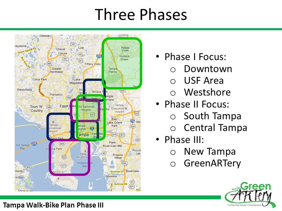 Three Phases Phase I Focus: Downtown USF Area Westshore