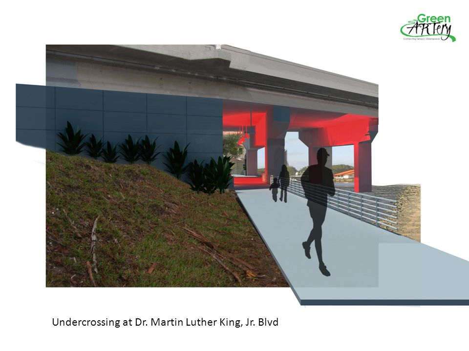 Undercrossing at Dr. Martin Luther King, Jr. Blvd