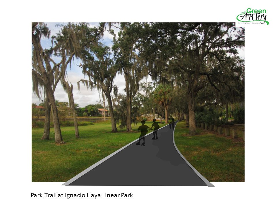 Park Trail at Ignacio Haya Linear Park