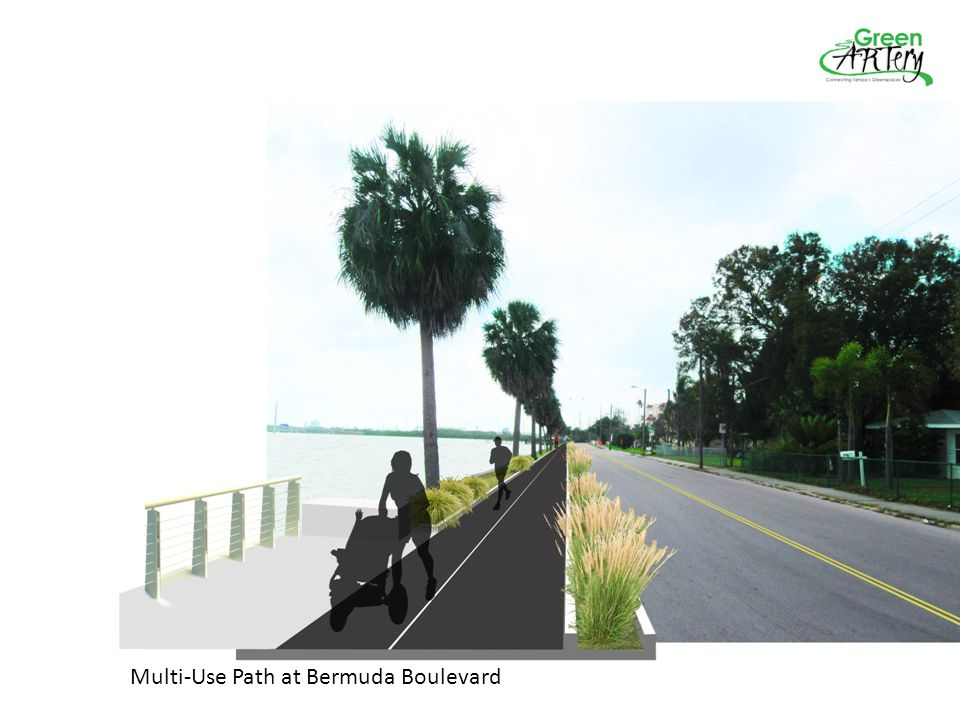Multi-Use Path at Bermuda Boulevard