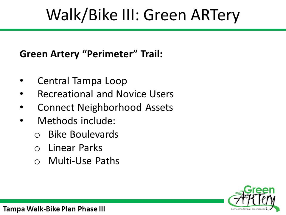 Walk/Bike III: Green ARTery