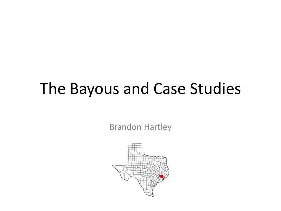 The Bayous and Case Studies