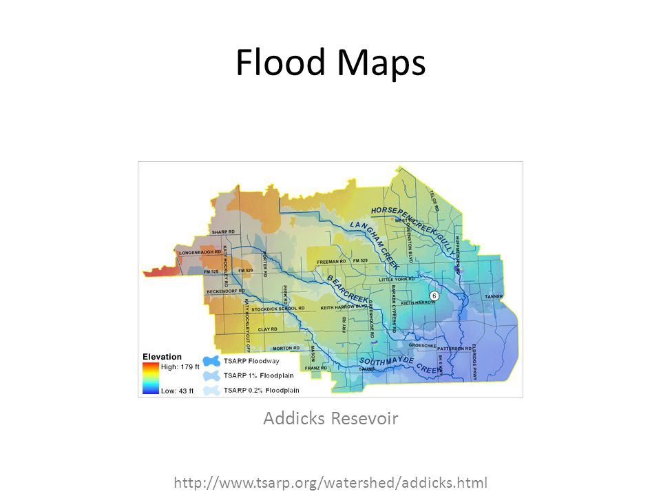Flood Maps Addicks Resevoir