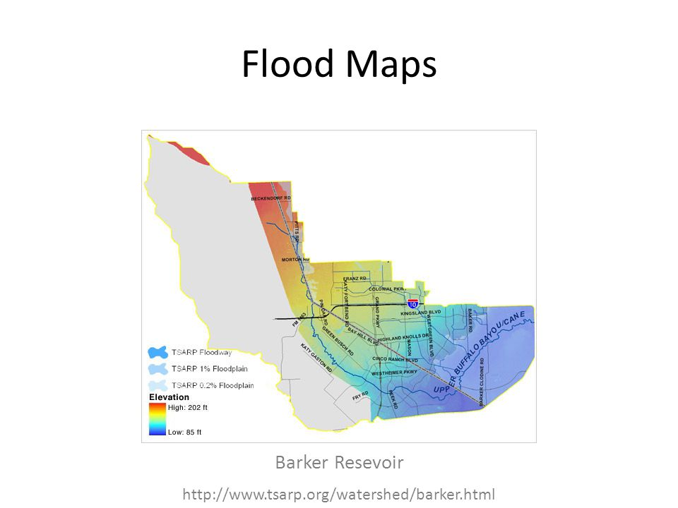 Flood Maps Barker Resevoir