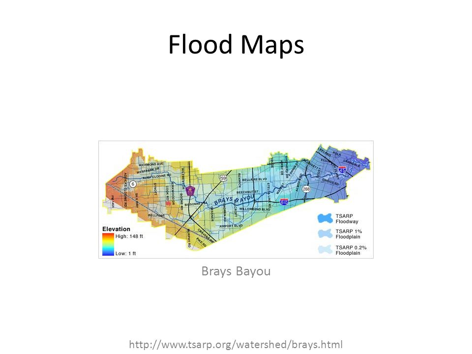 Flood Maps Brays Bayou