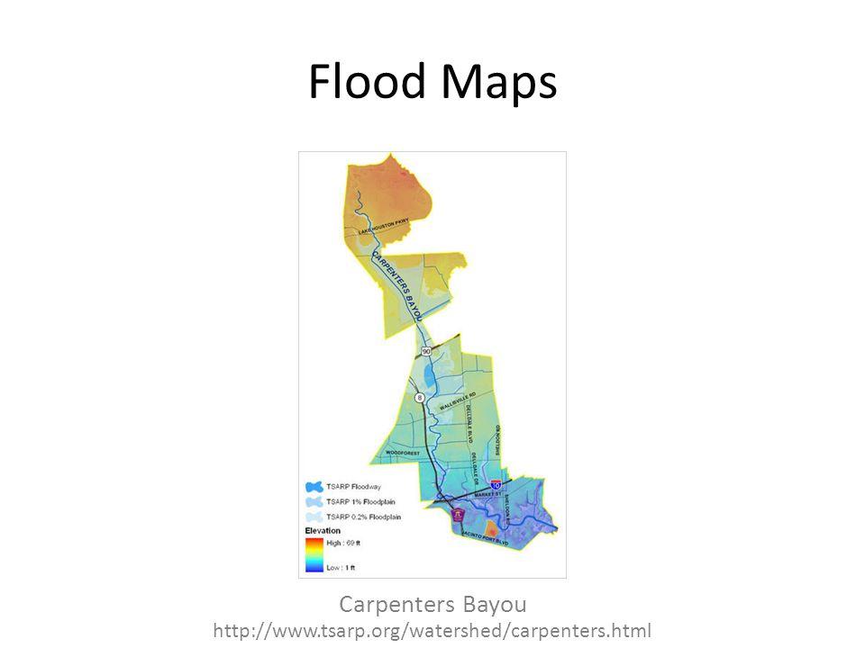 Flood Maps Carpenters Bayou