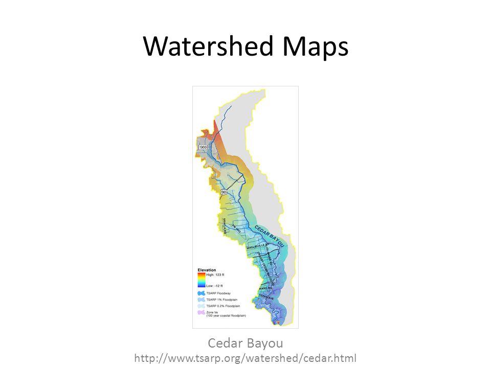 Watershed Maps Cedar Bayou http://www.tsarp.org/watershed/cedar.html