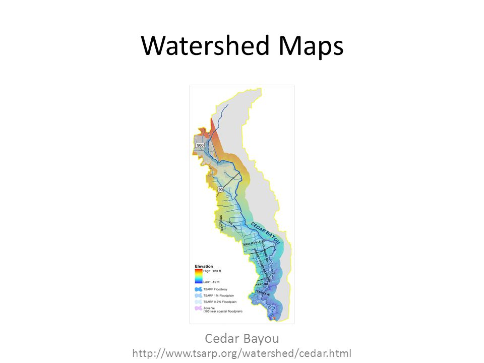 Watershed Maps Cedar Bayou