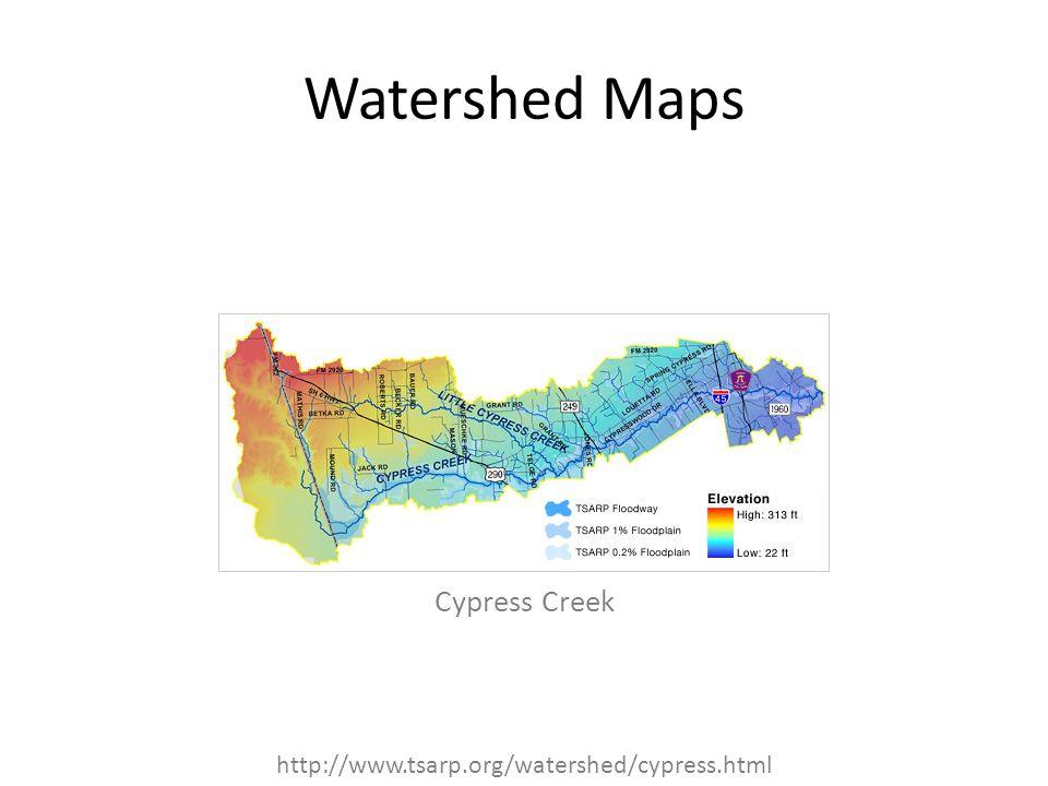 Watershed Maps Cypress Creek