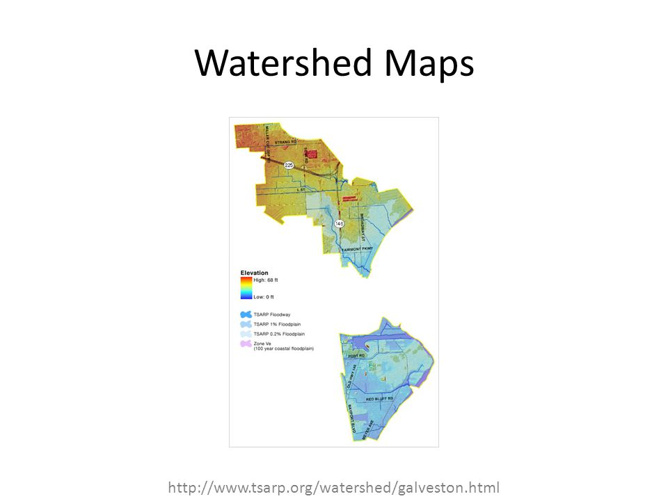 Watershed Maps http://www.tsarp.org/watershed/galveston.html