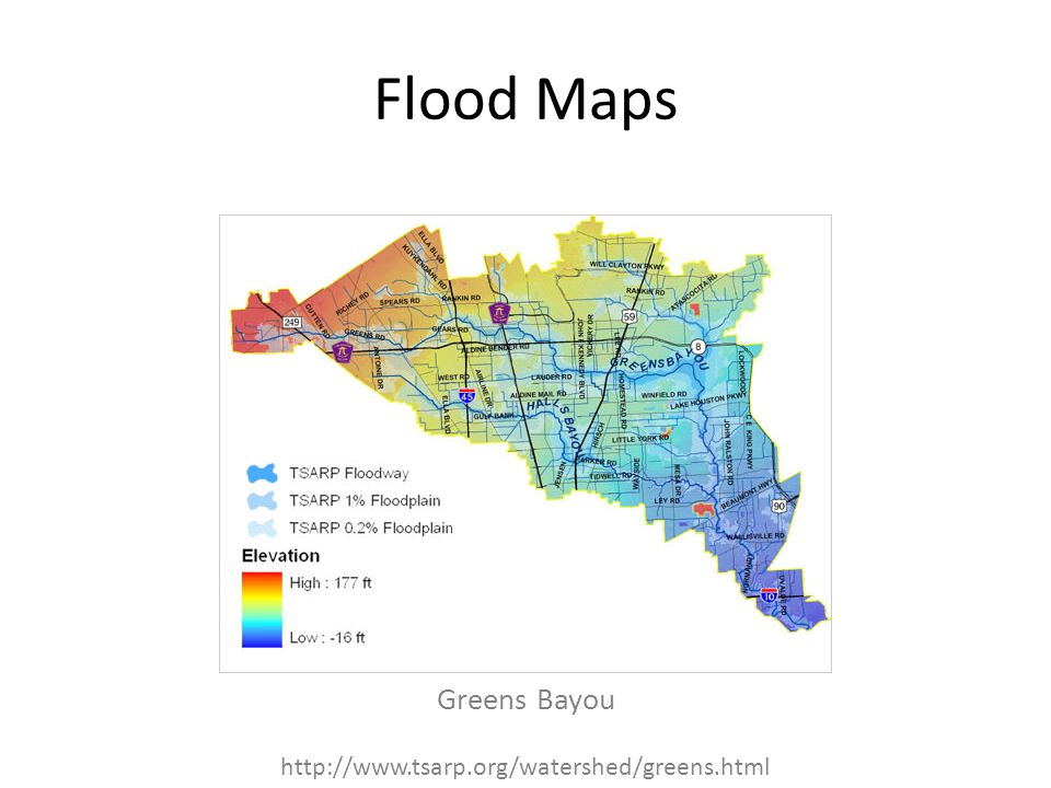 Flood Maps Greens Bayou http://www.tsarp.org/watershed/greens.html