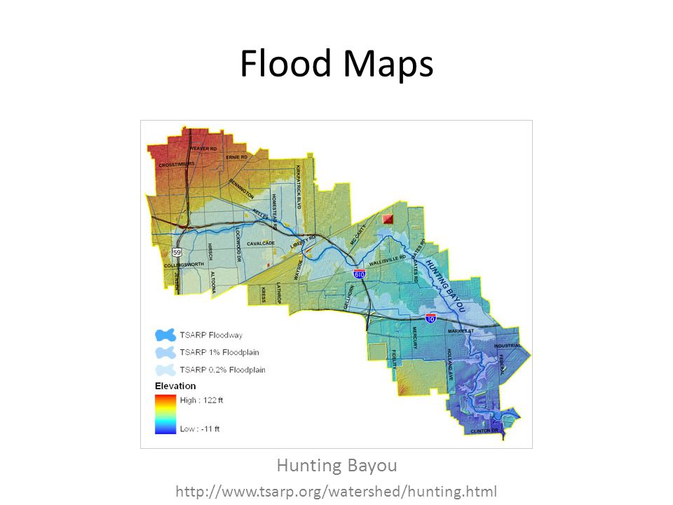 Flood Maps Hunting Bayou http://www.tsarp.org/watershed/hunting.html