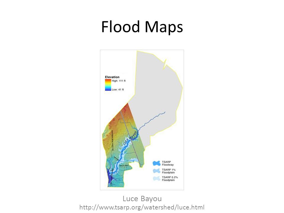 Flood Maps Luce Bayou http://www.tsarp.org/watershed/luce.html
