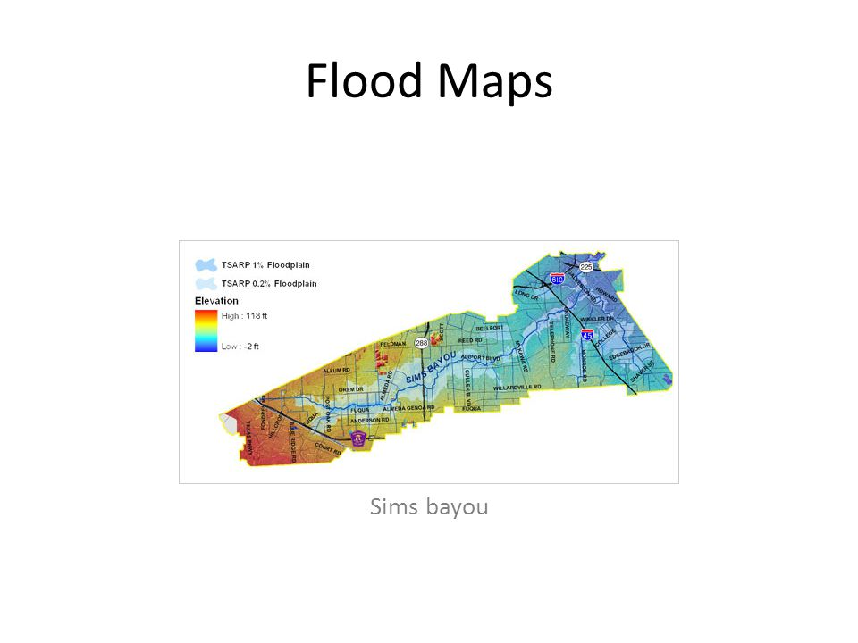 Flood Maps Sims bayou