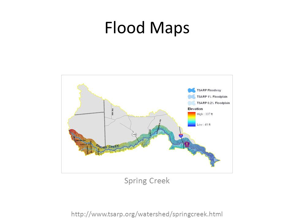 Flood Maps Spring Creek