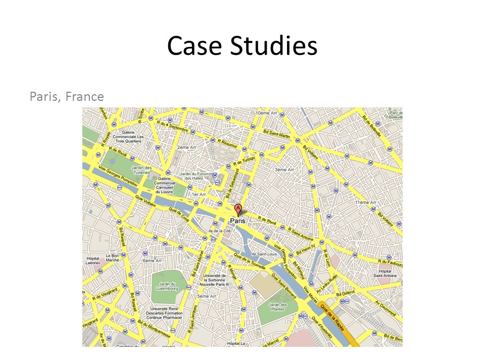 Case Studies Paris, France