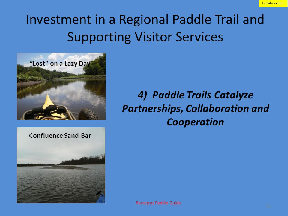 Investment in a Regional Paddle Trail and Supporting Visitor Services