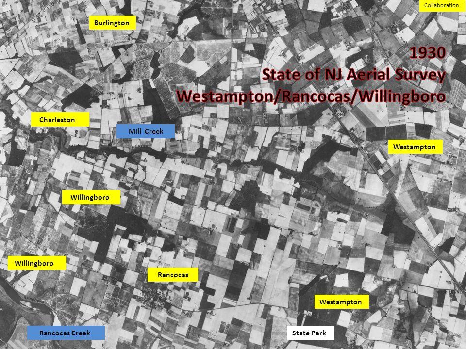1930 State of NJ Aerial Survey Westampton/Rancocas/Willingboro