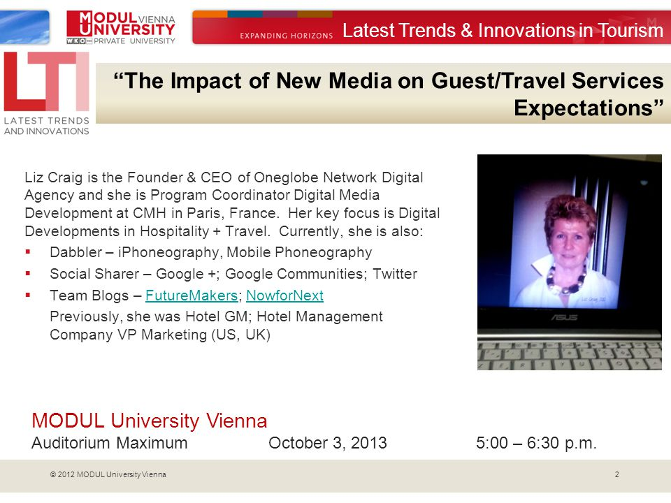 The Impact of New Media on Guest/Travel Services Expectations