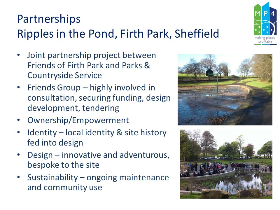 Partnerships Ripples in the Pond, Firth Park, Sheffield