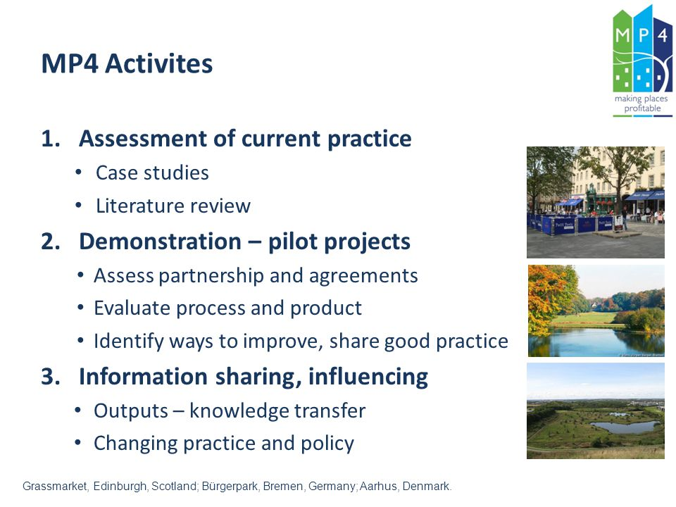 MP4 Activites Assessment of current practice