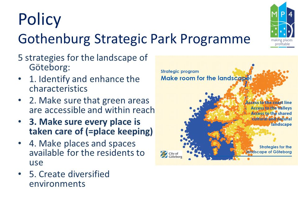 Policy Gothenburg Strategic Park Programme