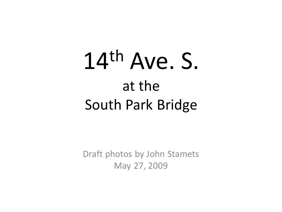 14th Ave. S. at the South Park Bridge