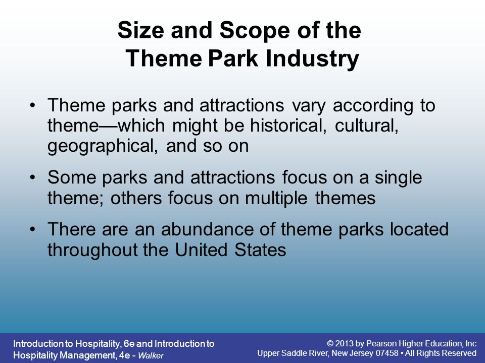 Size and Scope of the Theme Park Industry