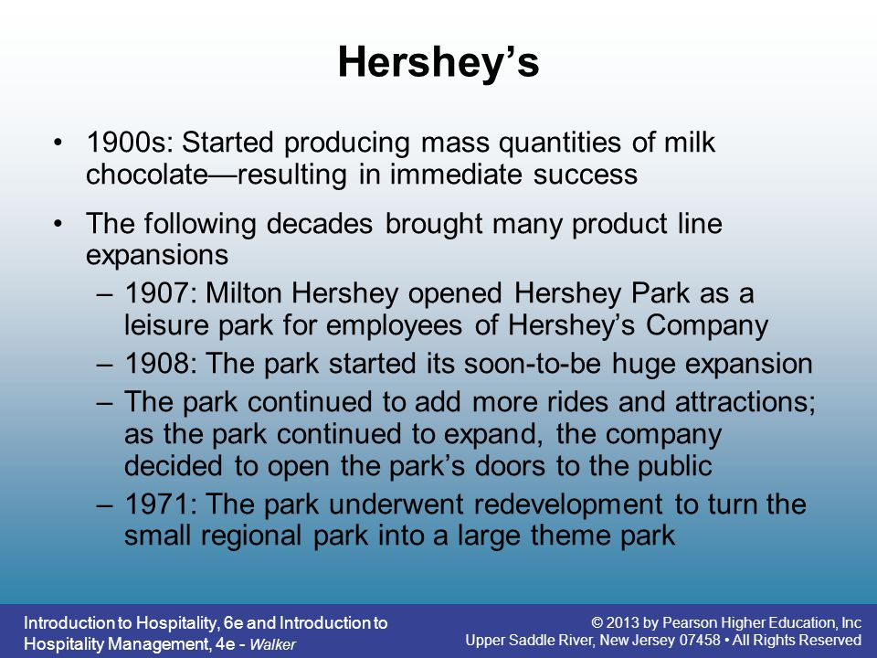 Hershey's 1900s: Started producing mass quantities of milk chocolate—resulting in immediate success.