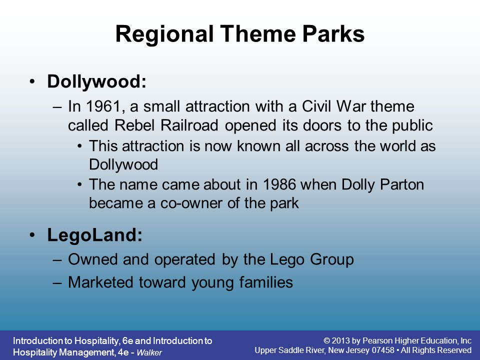 Regional Theme Parks Dollywood: LegoLand: