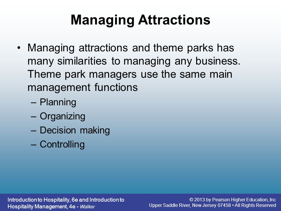 Managing Attractions