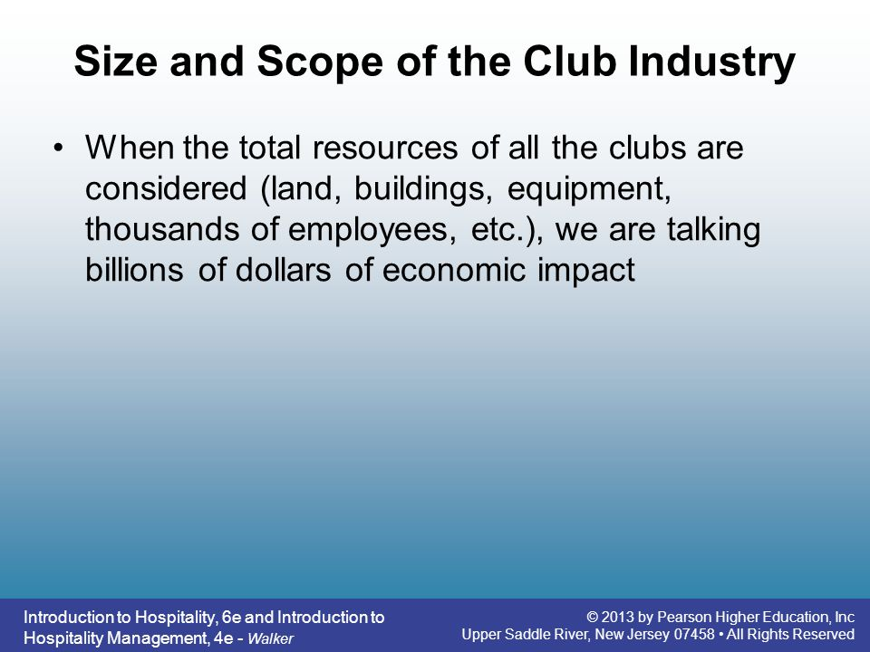 Size and Scope of the Club Industry