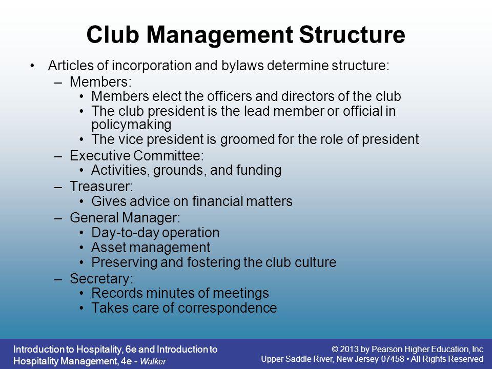 Club Management Structure