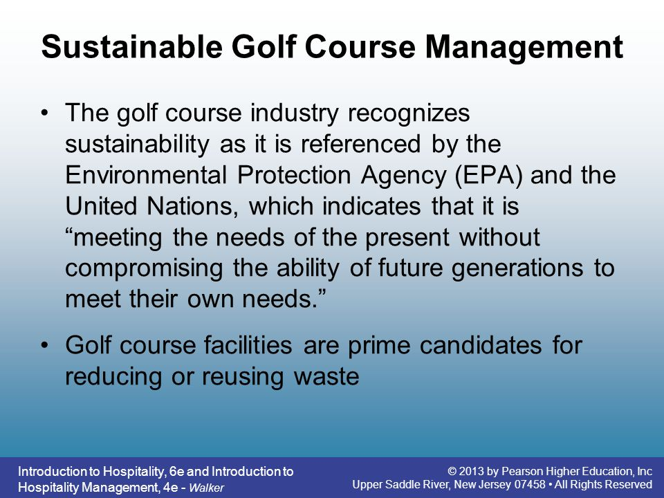 Sustainable Golf Course Management